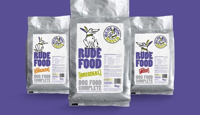 Rude Dog Food Packaging Design