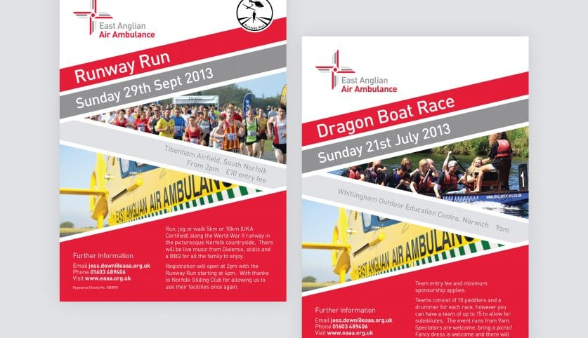 East Anglian Air Ambulance Event Poster Designs