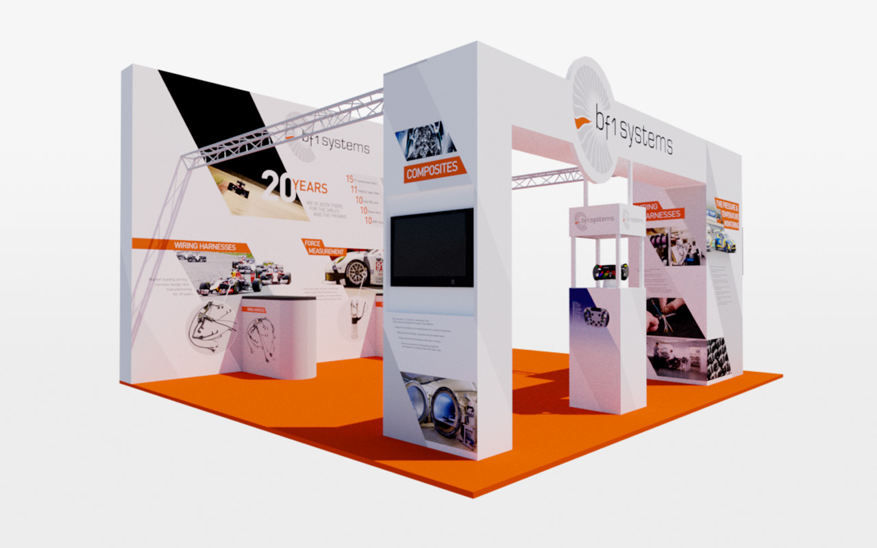 Exhibition Stand Layout : Exhibition stand design for bf systems tessellate
