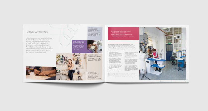 Brochure spread design 1