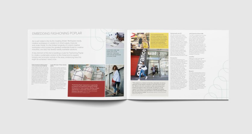 Brochure spread design 2
