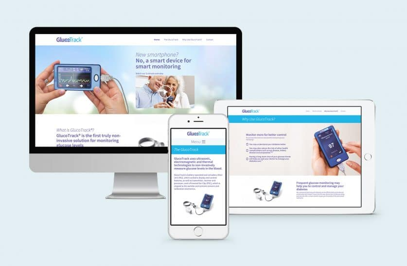 Glucotrack responsive website design & development