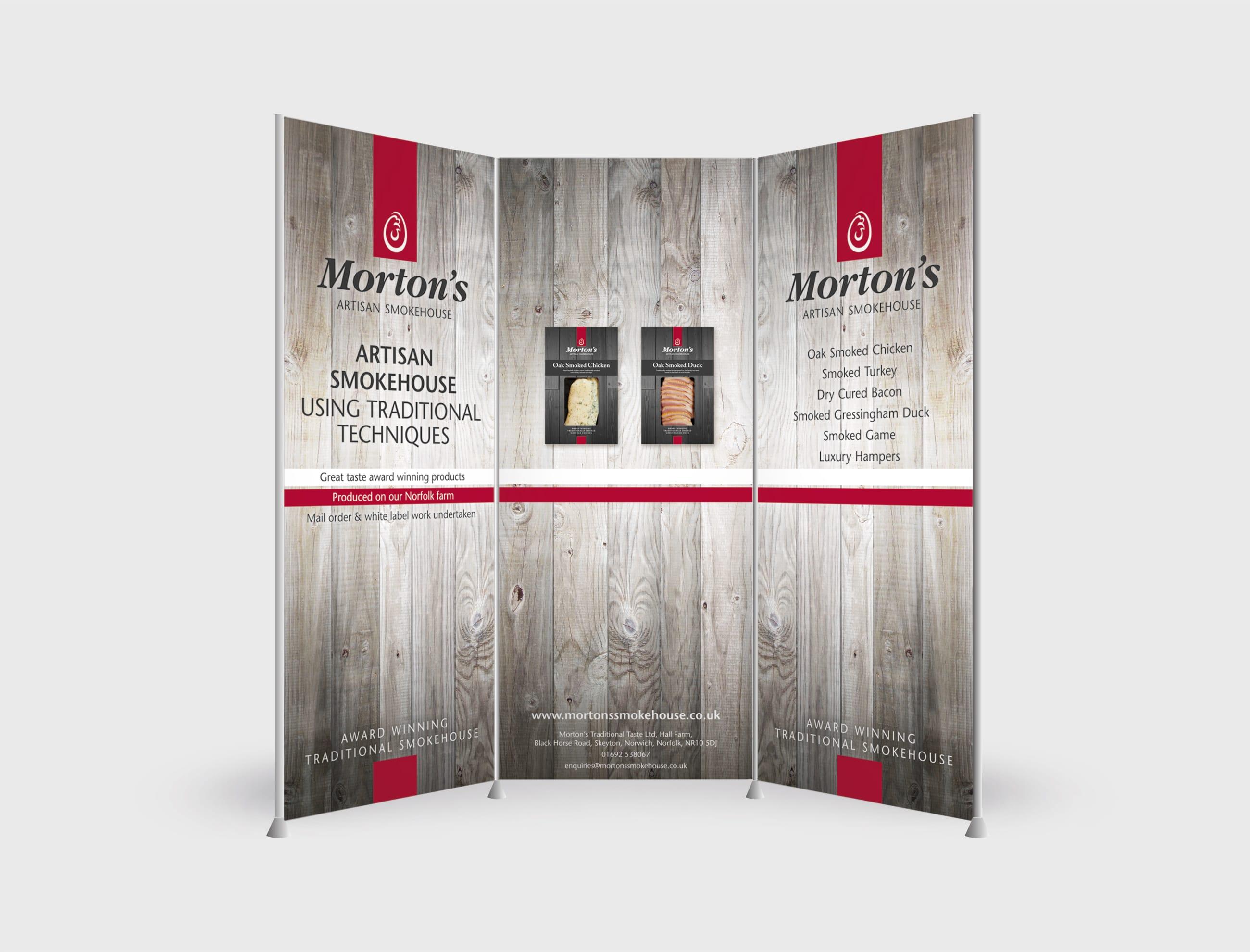 Exhibition Stand Poster Design : Morton s smokehouse exhibition stand design tessellate design studio