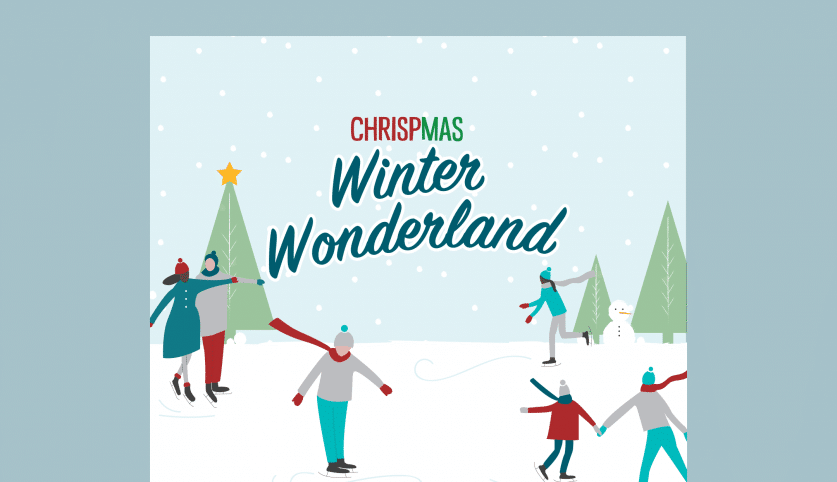 Chrispmas wonderland illustration and poster