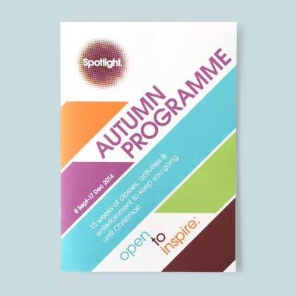 Spotlight programme cover graphic design