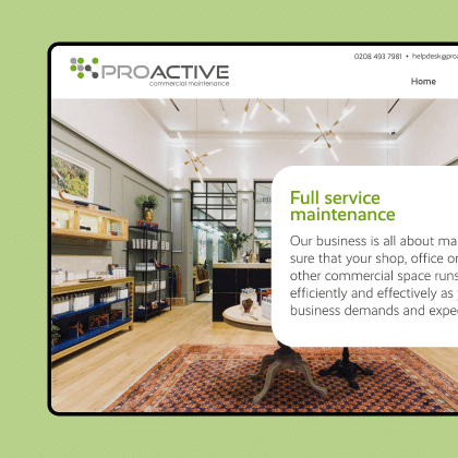 ProActive Commercial Maintenance website design & development